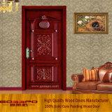 Clássico que cinzela a porta interna do quarto da madeira contínua (GSP2-073)