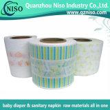 Pellicola laminata piena respirabile del PE di stampa per le materie prime del pannolino del bambino (LF-012)