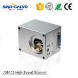 Cabeça do Galvo do laser do CO2 de Digitas Jd1403 da varredura do código de barras para a máquina de estaca do laser