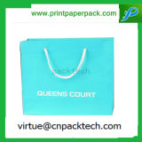 Reciclar la bolsa de papel cómoda de Kraft de las compras de la mercancía del color de Eco