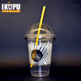 Wegwerffirmenzeichensmoothie-Plastikcup des Haustier-12oz mit Abdeckung-Kappe