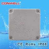 Rectángulo de ensambladura impermeable plástico IP65