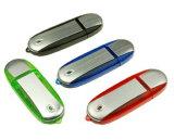 Movimentação plástica do flash do USB da venda quente com o presente da impressão do logotipo