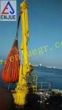 Grúa costa afuera de la cubierta de la nave del infante de marina telescópico fijo hidráulico del auge