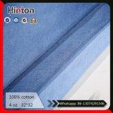Изготовление 32*32 сбывания Китая горячее утончает ткань 100% джинсовой ткани хлопка 4oz