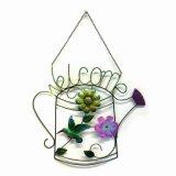 """A flor especial de pano decorou a decoração do jardim da """"boa vinda"""" da parede do metal"""