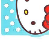Caso lindo del silicón del gatito de la historieta hola para la mini cubierta del teléfono móvil del iPad (XS-A3)