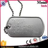 A presión las etiquetas de perro de ejército del metal del espesor de la aleación 2m m del cinc de la fundición