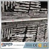 Черным камень культуры уступчика текстуры расположенный ступенями мрамором для блокируя плиток каменной стены