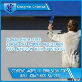 Émulsion acrylique de styrène pour les enduits de mur (SA-210)