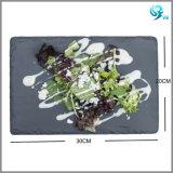 Чисто естественный материальный черный шифер Placemat высокого качества