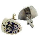 Cufflinks металла оптовых изготовленный на заказ людей формы сердца печатание полного цвета