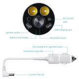 cargador de múltiples funciones del coche del USB de la visualización de LED 3-in-1 con el alumbrador sin hilos del cigarrillo de Bluetooth de los auriculares de Handfree con el conjunto
