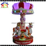 Caballo del cruce giratorio del carrusel de 6 asientos para los niños