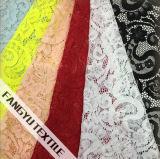 Tela do laço do nylon e do algodão para o vestuário das senhoras