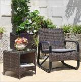 유럽 옥외 발코니 정원 등나무 의자 및 커피용 탁자 한 벌
