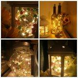 Spätestes konzipiertes 1AA Wein-Flaschen-Korken-Kupfer-Zeichenkette-Licht der Batterie-3m30LED für Ausgangs-/Feiertags-/Weihnachtsdekoration