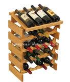 La visualizzazione di legno della cremagliera del vino delle 20 bottiglie accantona la cremagliera di memoria del vino