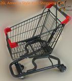 26L estilo América Kids carrinho de compras com bandeira