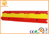 Hot Selling Red 2 Channel PVC Protetor de cabo Ramp Yellow Jacket