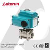 Shutoff chinês do fabricante de Wenzhou válvula de esfera elétrica da linha interna de três partes
