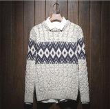 Heißer kundenspezifischer Bedeckung-Wolljacke-Farben-Jacquardwebstuhl gestrickte Gewebe-Strickjacke des Kleides des Mannes
