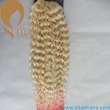 Trama loura do cabelo 613# humano da luz superior da onda do corpo da classe