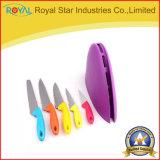 Couteaux de cuisine multi de la couleur 6PCS réglés avec le tablier d'outil d'interpréteur de commandes interactif