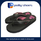 Black Wedge EVA Plush Indoor Ladies Bathroom Slippers