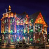 Lumière de projecteur de laser pour des décorations de vacances de jardin d'horizontal