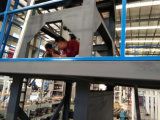 Pp, machine vers le bas soufflée de film de refroidissement par eau de coextrusion de Deux-Couche de PE