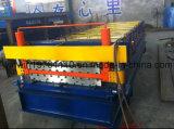 Rodillo galvanizado de dos pisos de la hoja de acero que forma la máquina