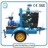 De aanhangwagen zette de Industriële CentrifugaalPomp van de Dieselmotor van de Zuiging van het Eind op