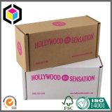 カスタム色刷の白いフルートの段ボール紙の荷箱