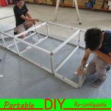 Projeto modular portátil feito sob encomenda do carrinho de exposição da exposição da jóia de DIY