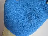 El guante azul cubierto palma China del trabajo del látex de la seguridad de los guantes fabrica