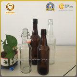 Bier-Glasflasche des Feuerstein-500ml mit Schwingen-Oberseite Ez Schutzkappe (548)