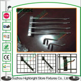 Cinc superventas ganchos de leva de la visualización de Gridwall del metal de los 7cm a del 14cm