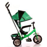 3개의 색깔 다기능 아기 세발자전거 아이 세발자전거