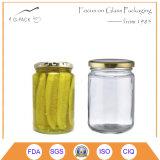 Vasi d'inscatolamento del cetriolo, vasi del sottaceto con i coperchi