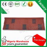 Bardeau enduit galvanisé de tuiles de toiture en métal de pierre de tôle d'acier de matériau de construction avec le prix en Ethiopie