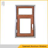 Het Thermische Openslaand raam van uitstekende kwaliteit van het Aluminium van de Onderbreking in Houten Kleur