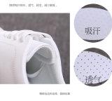 Sapatas ocasionais de couro clássicas do patim do corte do ponto baixo da sapatilha quente da venda