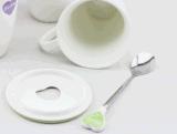 Tazza di caffè fredda su ordinazione di ceramica della tazza di tè della novità con il cucchiaio