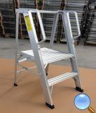 De Ladder van het Aluminium van het huishouden met Platform