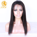 매끄러운 똑바른 사람의 모발 가발 Virgin 브라질 머리 흑인 여성 가득 차있는 레이스 사람의 모발 가발을%s 가득 차있는 레이스 가발 & 레이스 정면 가발