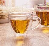 Alta taza de té del café de la pared de Doubl del vidrio de Borosilicate con el peso ligero