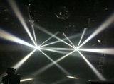 Stadium, das preiswerte Disco-Lichter beleuchtet