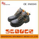Buzina em aço inoxidável de couro Buffalo para sapatos de segurança Black Hammer