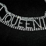 호화스러운 수정같은 모조 다이아몬드 Handmade 여왕 편지 구리 숨막히게 하는 것 목걸이